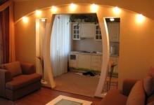 Как оформить арку в квартире фото
