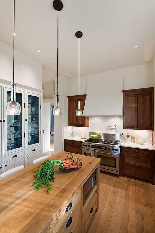 Подвесные светильники помогут в создании уютной и домашней атмосферы