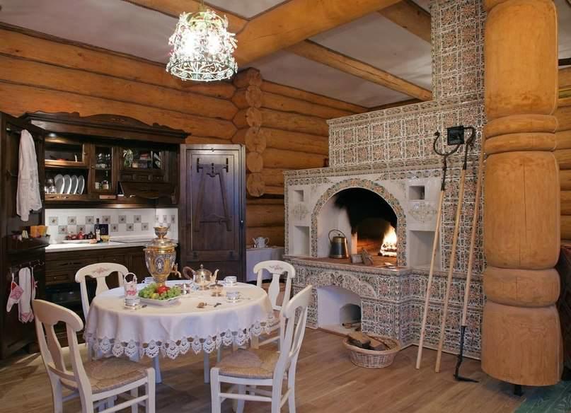Деревянный дом и печь просто созданы друг для друга