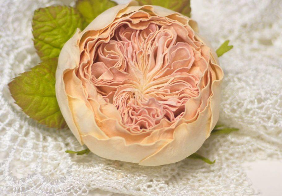 Многие рукодельницы занимаются изготовлением стильной и необычной пионовой розы, которая способна прекрасно украсить любую композицию