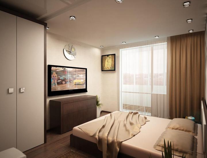 Какой бы стиль для вашей спальной комнаты вы не выбрали, придерживайтесь правила, что мебели должно быть как можно меньше