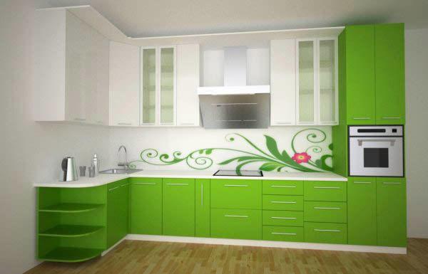 После покраски фасадов можно попробовать обновить и фартук в том же стиле