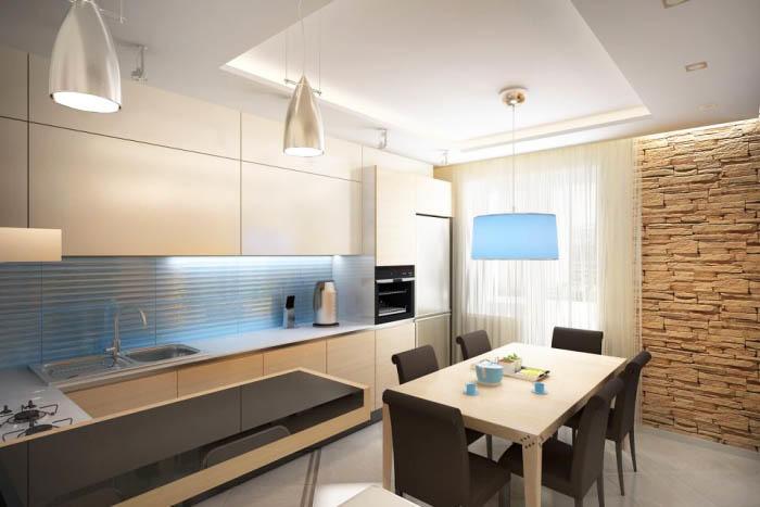 Очень хорошее решение - разработать форму и планировку кухни, а фасады купить уже готовые