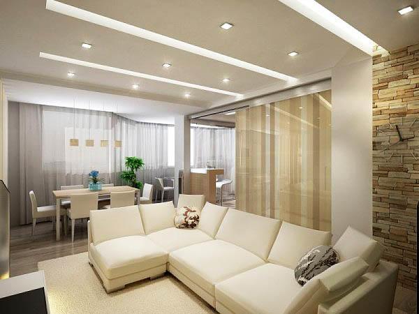 Выбирая цвет потолка, учитывайте интенсивность естественного освещения, площадь комнат, высоту потолков и количество мебели