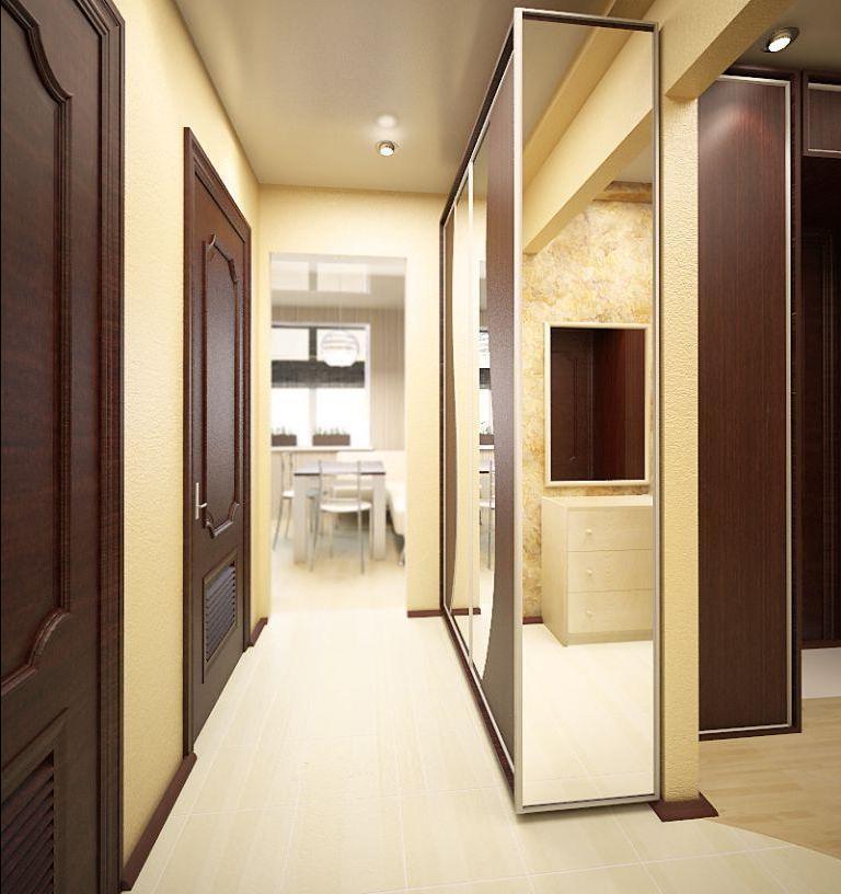 Для отделки пола в коридоре отлично подойдет линолеум светлого цвета