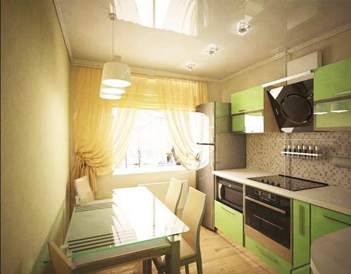 Кухня 9 кв. м - это оптимальное пространство, которое не напрягает излишне маленькой площадью и позволяет разместить на кухне все необходимое