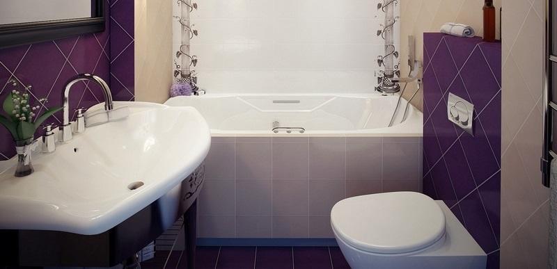 Современный интерьер ванной в хрущевке должен быть выполнен в едином стилистическом направлении