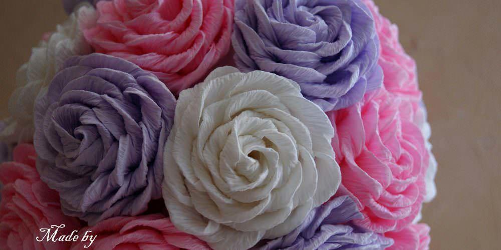 Технология изготовления роз из гофрированной бумаги в разных МК может отличаться
