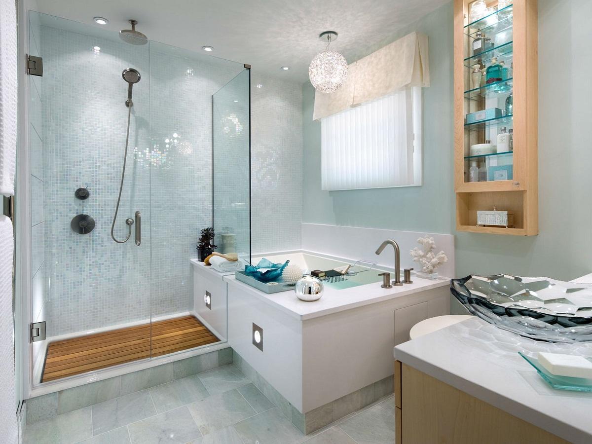 Аксессуары следует размещать таким образом, чтобы они не ухудшали эксплуатационные свойства ванной комнаты