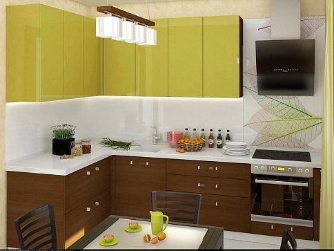 Белый фартук добавит кухне визуального пространства