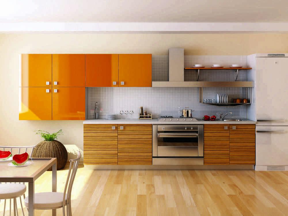 Для отделки кухонных фасадов используется два вида пластика