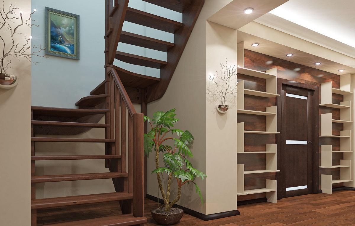 Внутренние лестницы следует устанавливать таким образом, чтобы они не мешали свободному передвижению по помещению