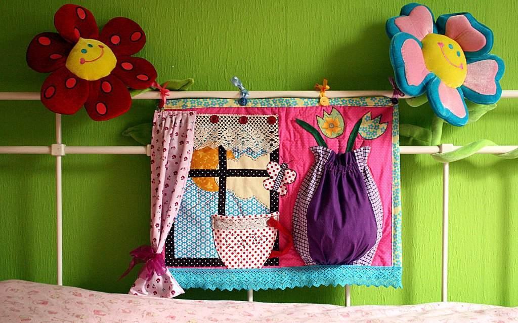 С техникой лоскутного шитья можно детскую комнату превратить в яркую сказку