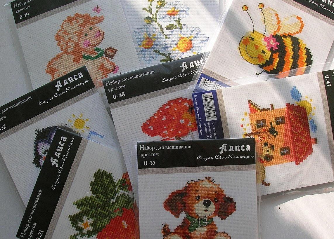 Готовые наборы с рисунком на канве для вышивания крестом имеют большое разнообразие в выборе