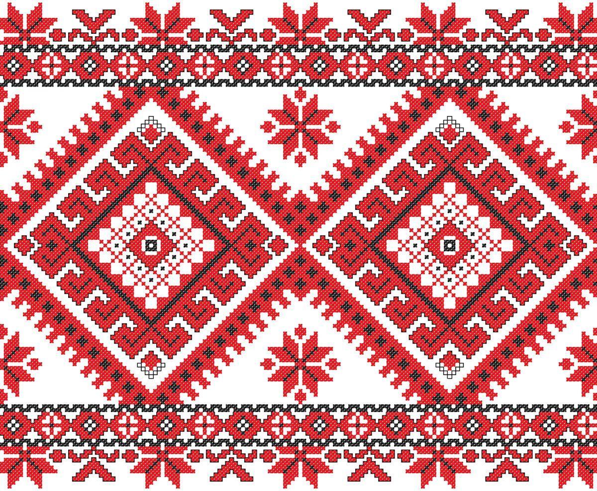 Орнаменты являются самыми популярными узорами для вышивки скатерти крестом