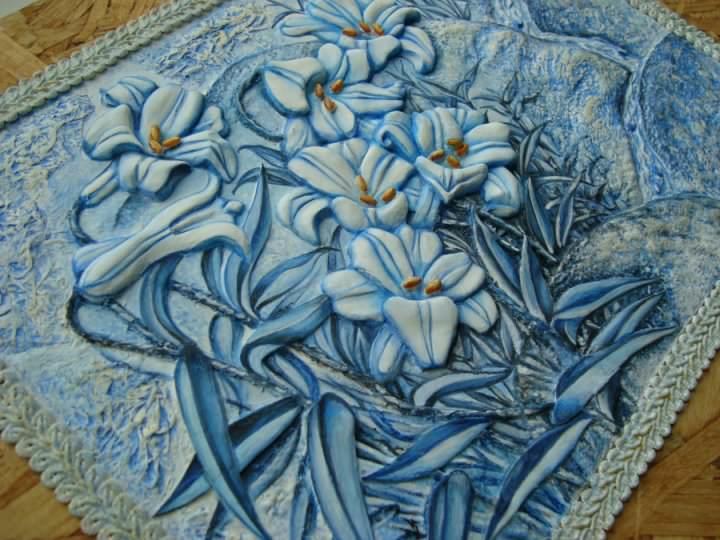 Керамическое панно, сделанное своими руками