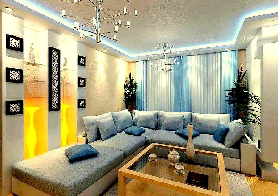 Выбор настенных покрытий для зала очень велик, поэтому выбирайте то, что вам ближе
