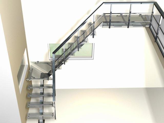 Для создания лестниц могут быть использованы разные виды нержавеющей стали