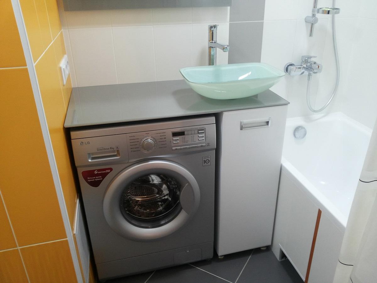 Тумба под стиральную машину: мебель с раковиной, для ванной в Леруа Мерлен, тумбочка на кухню под стиралку