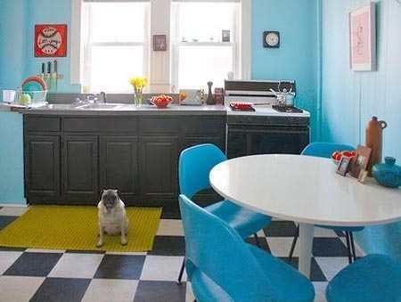 Голубые обои - это креативное и современное решение для каждого интерьера