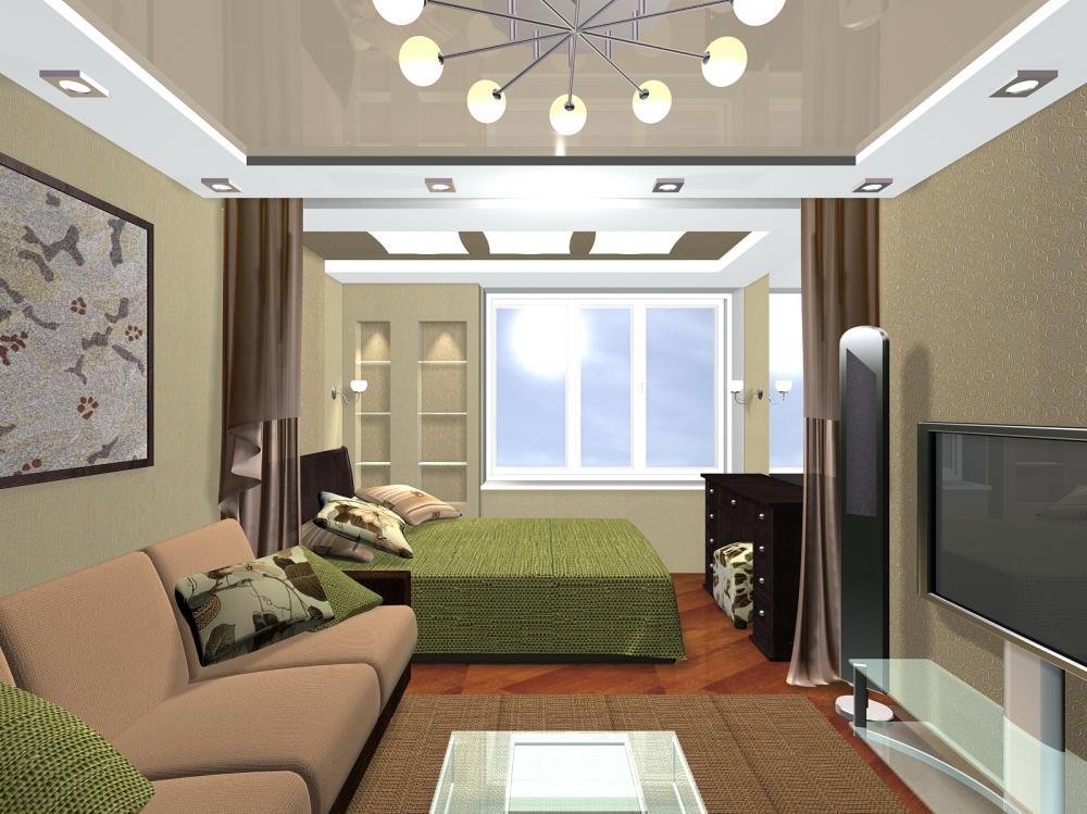 Правильное зонирование пространства поможет вам обустроить гостиную-спальню в одном помещении