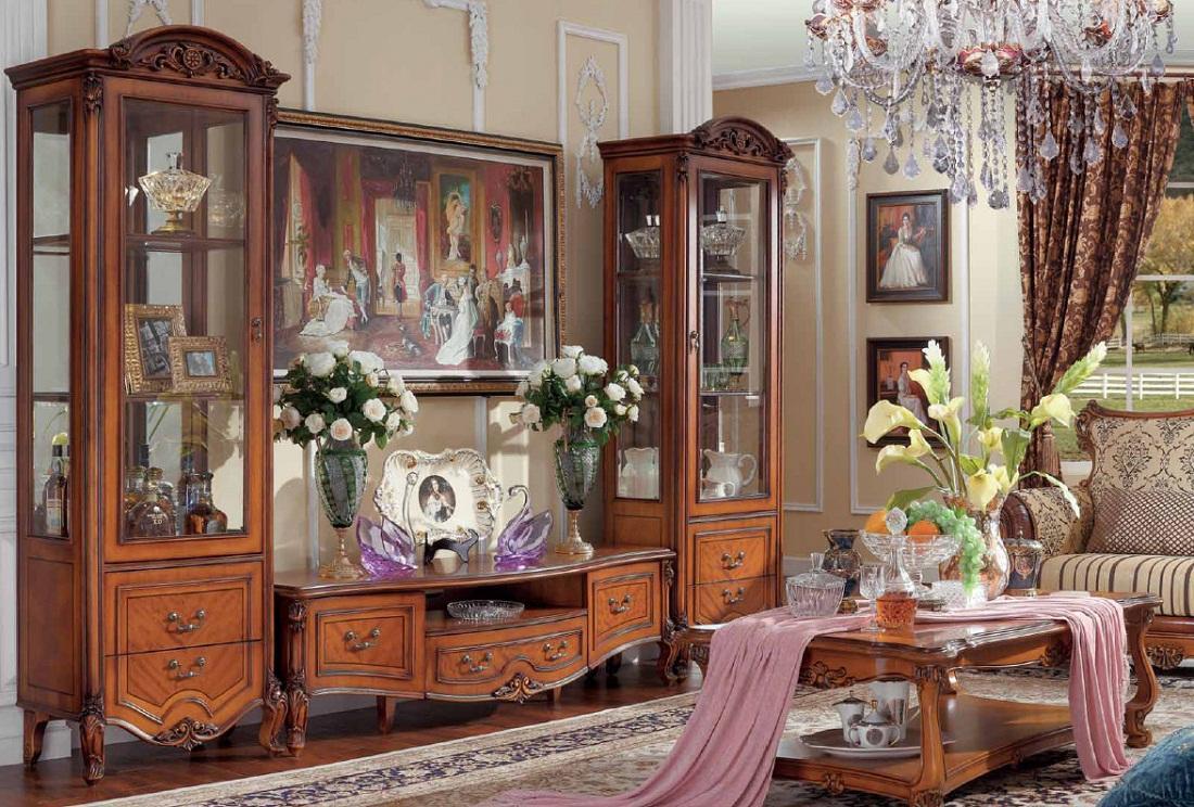 Горка в гостиную: фото стенки для посуды, классическая мебель, дизайн шкафа, модульные горки от производителя
