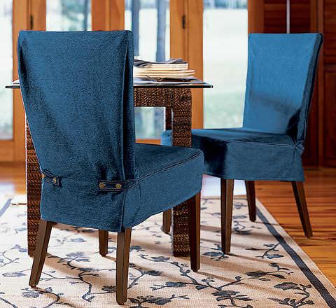 Если не хотите кардинальных перемен, но привычный вид ваших стульев стал слишком скучным - попробуйте сшить чехол