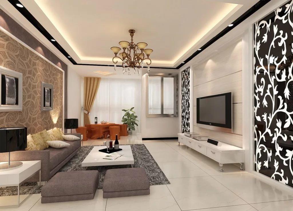 Для отделки зала широко используется керамическая плитка