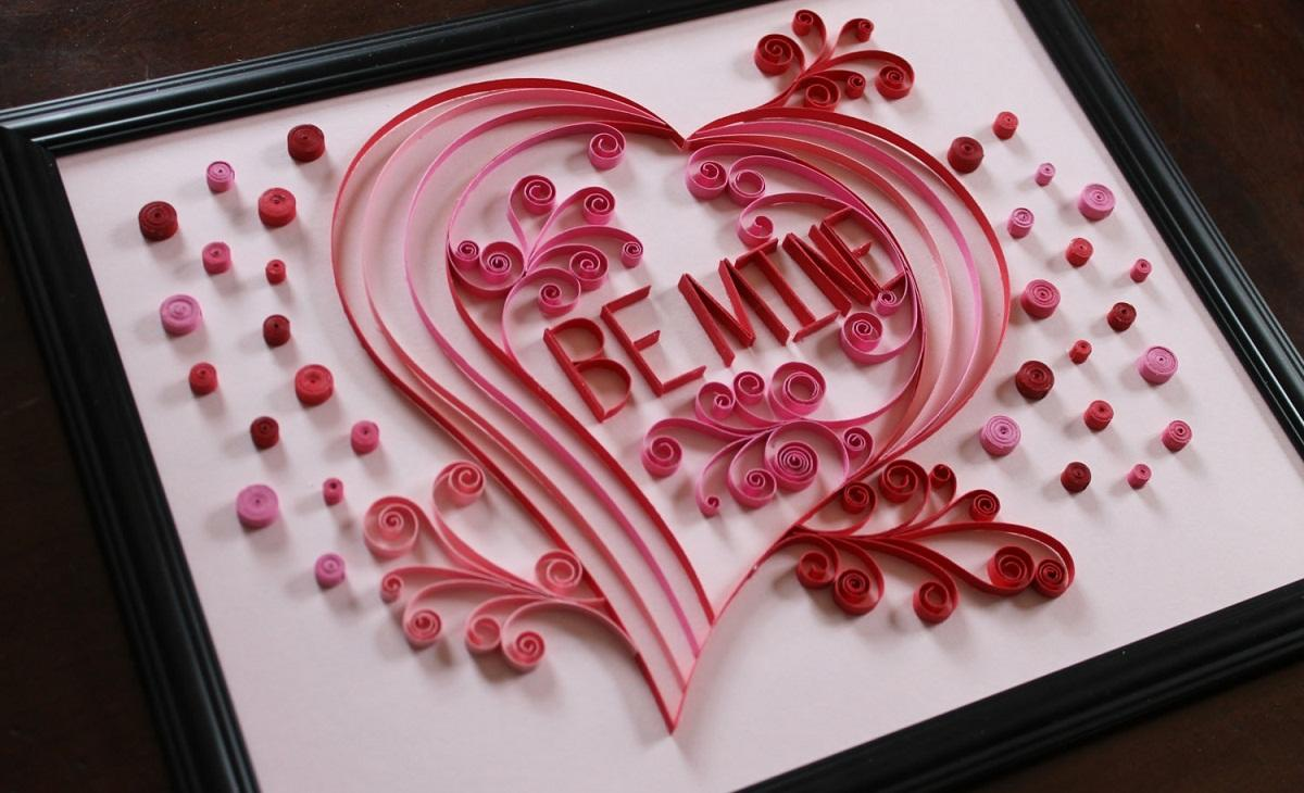 Сердце в технике квиллинг - прекрасный подарок на День влюбленных