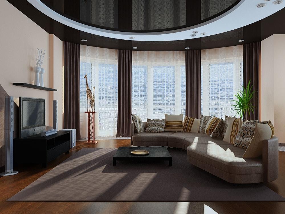 Современную гостиную оформить несложно, главное – правильно подобрать цветовое оформление, мебельный гарнитур и элементы декора