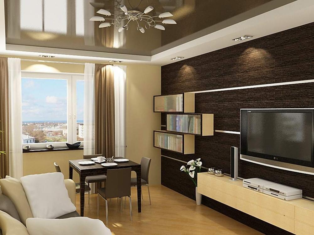 Если определиться с дизайном помещения и подобрать все необходимо материалы для работы, тогда можно создать стильную гостиную своими руками