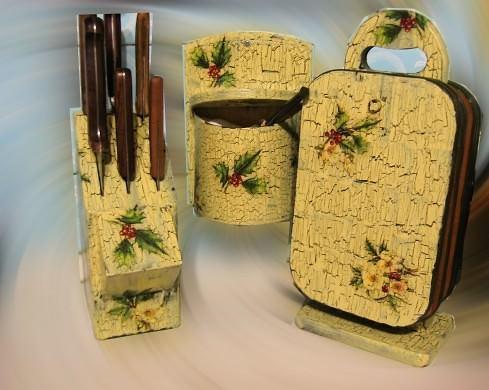 Декорировать салфетками можно не только элементы интерьера, но и любимые предметы утвари