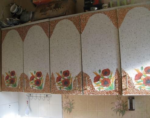 Декор в стиле прованс наиболее распространенный вид декупажа кухонной мебели