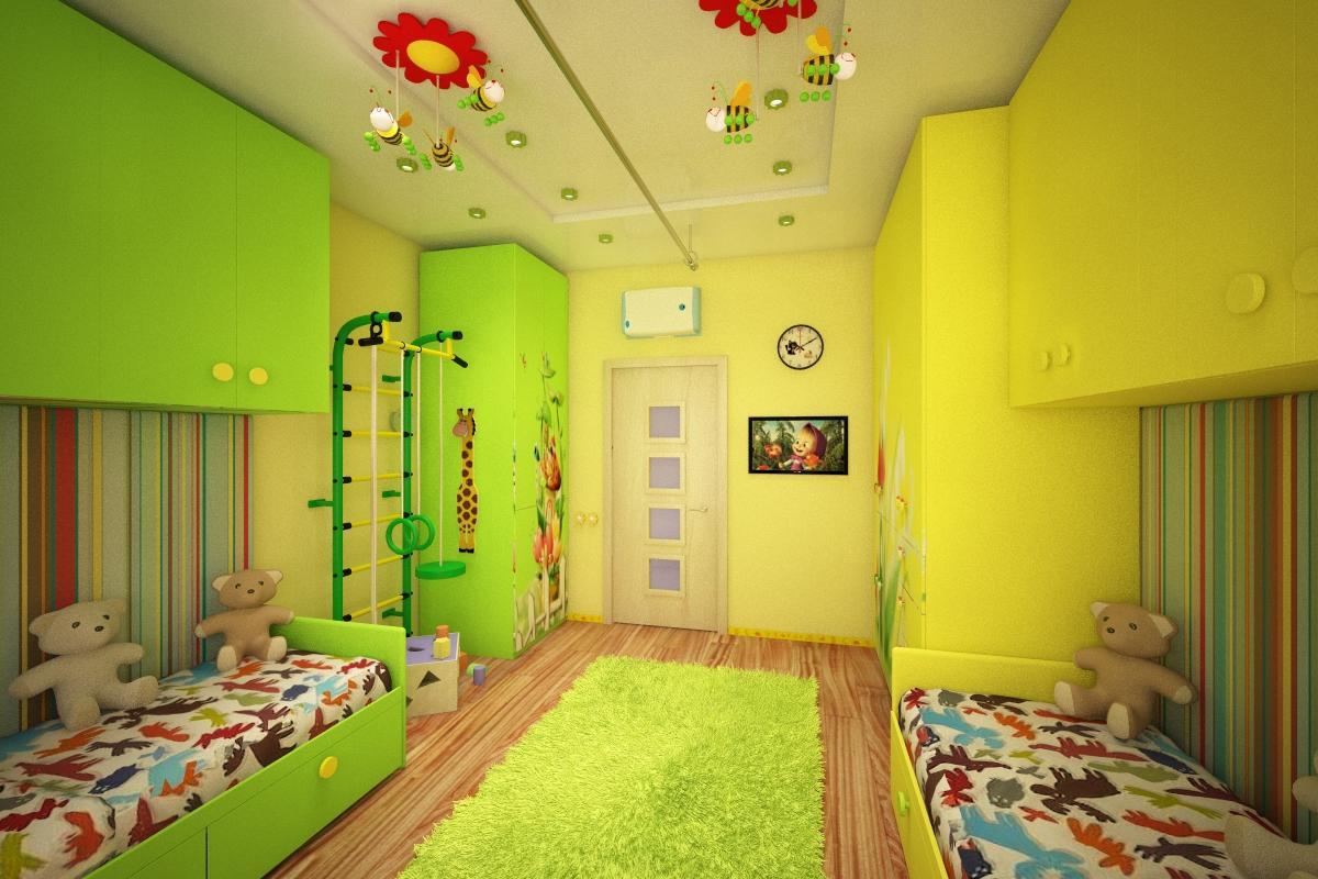 Дизайнерское решение во многом зависит от возраста разнополых детей
