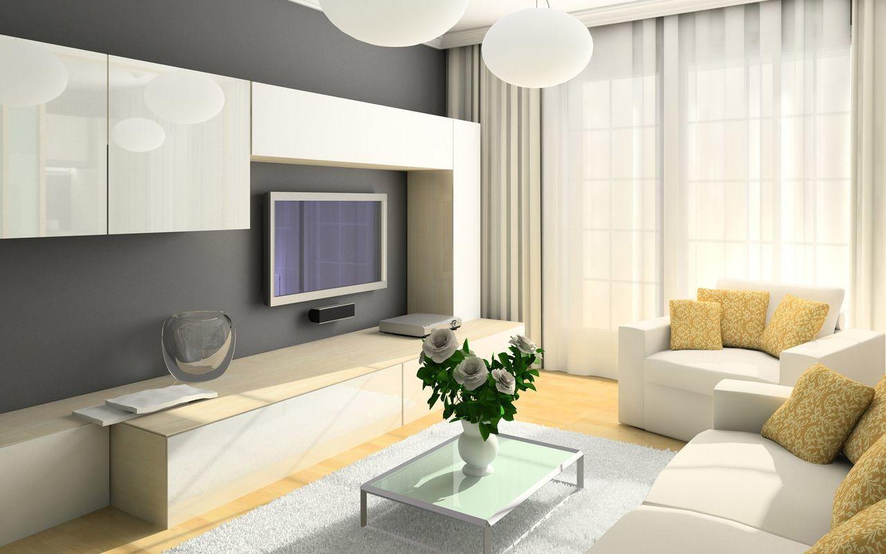 Креативная мебель и неброский декор поможет вам создать ультрасовременную гостиную