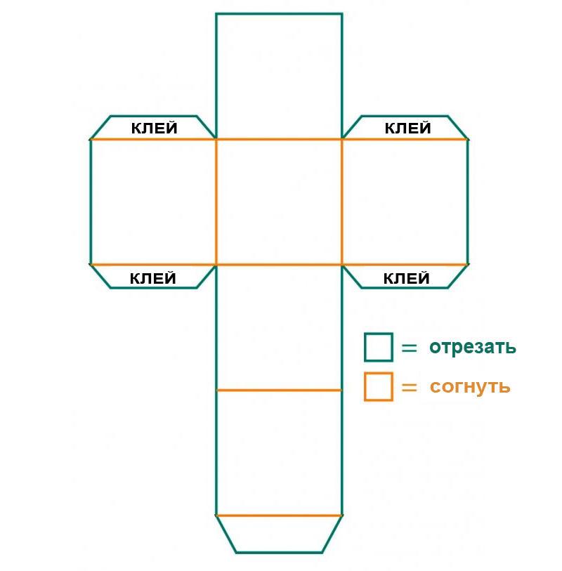 Найти оригинальный шаблон коробочки из бумаги или картона можно на просторах интернета