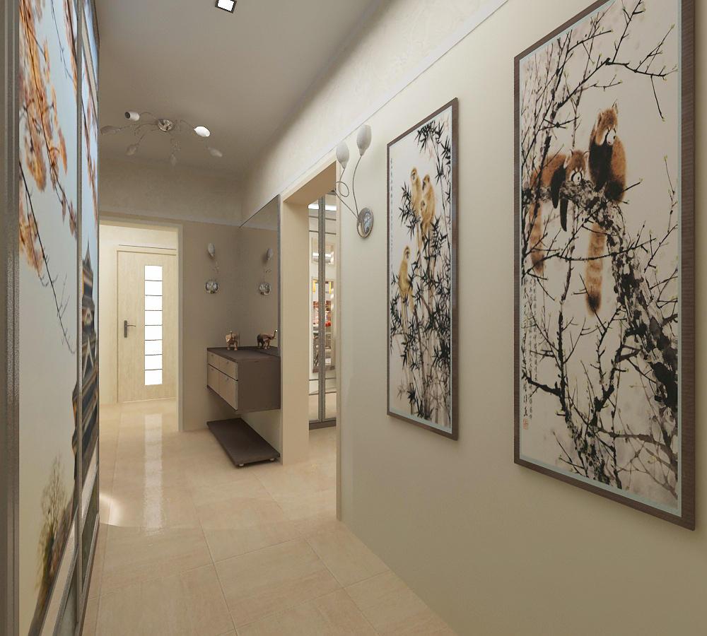 Подбирать картины следует так, чтобы они гармонично дополняли интерьер, украшая коридор