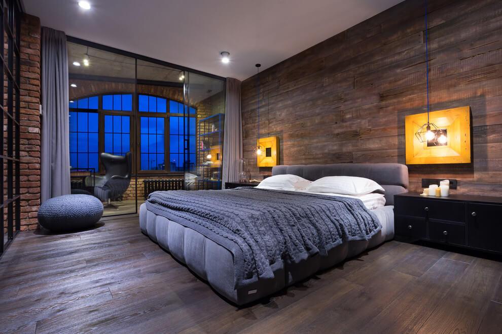 Дизайн спальни для молодого парня должен быть продуман так, чтобы были совмещены практичность и комфорт, а также нашлось место для рабочей зоны