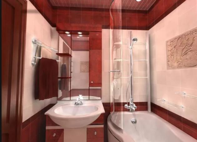 Оптимальный дизайн санузла в хрущевке - совмещение ванной и туалета