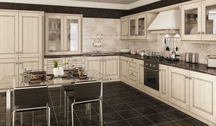 Интерьер в классическом стиле украсит любую кухню