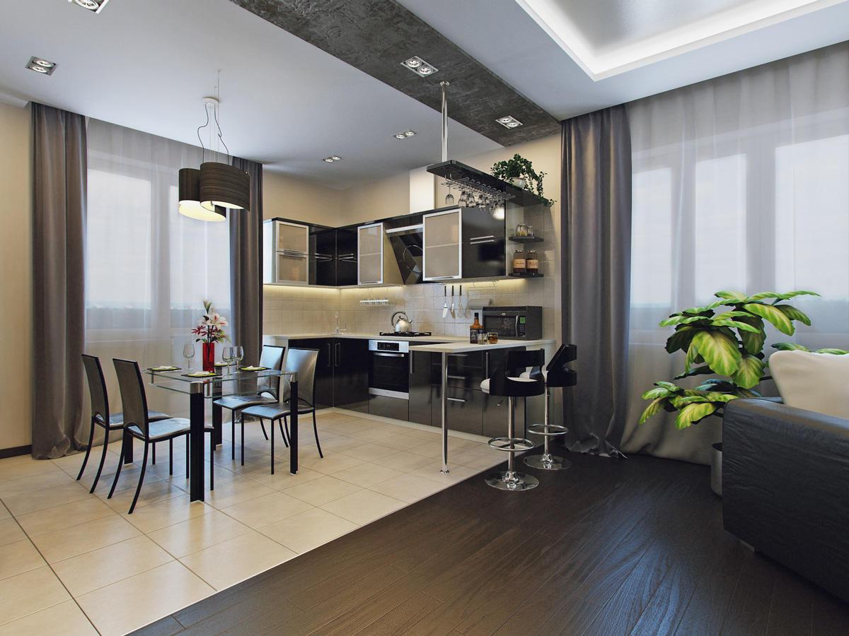Кухня-гостиная 40 кв
