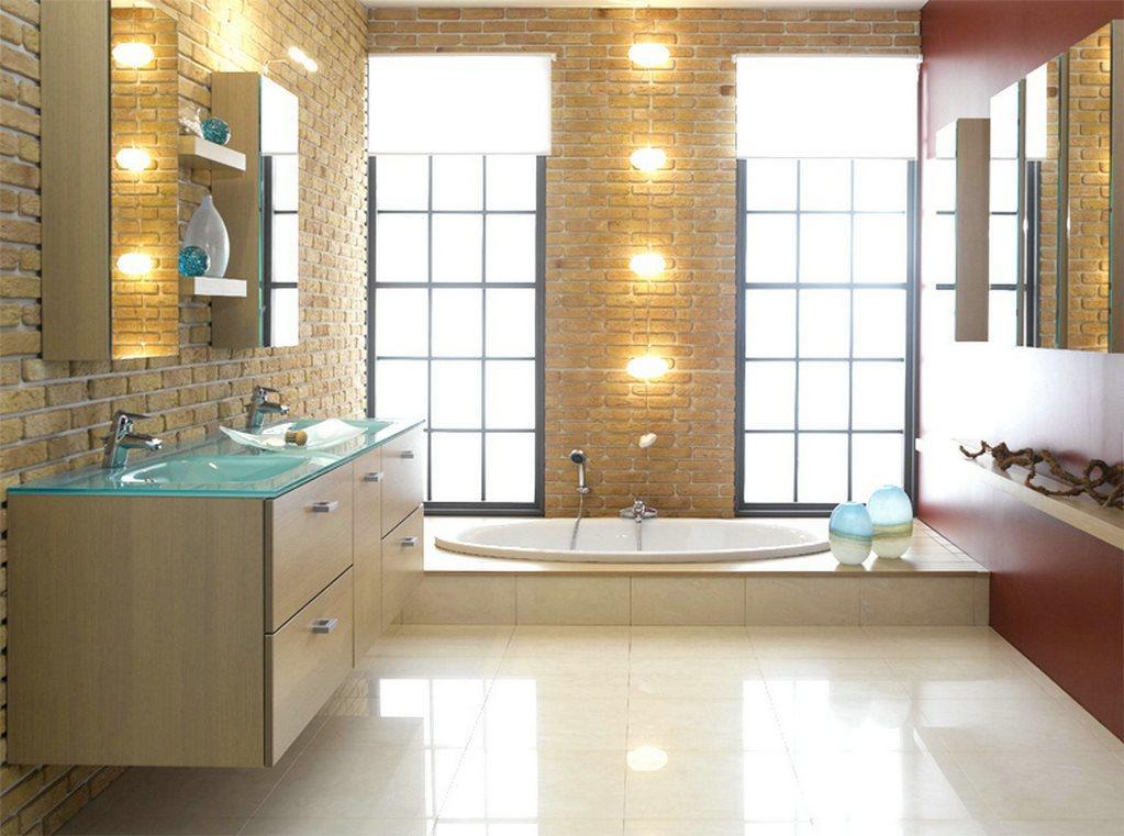 Дополнительно украсить интерьер ванной комнаты можно красивыми держателями, интересными осветительными приборами и другими декоративными элементами