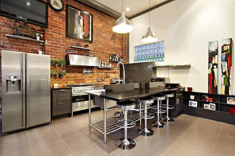 Кухня в стиле лофт подчеркнет безупречный вкус ее владельца