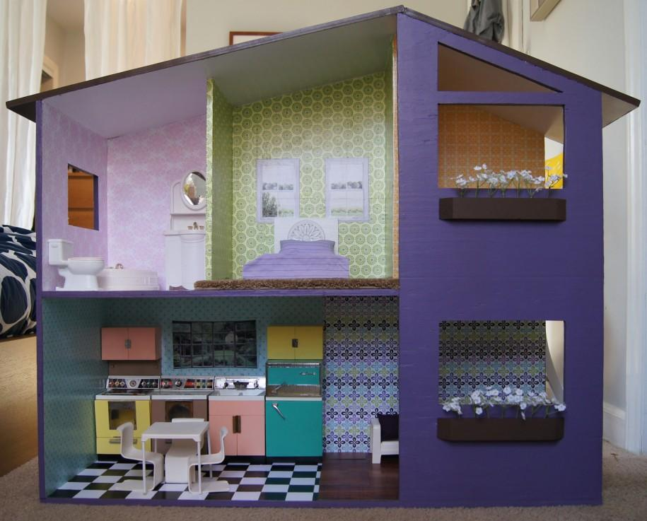 Если вам нужно быстро смастерить кукольный дом, тогда можно использовать практически любые подручные материалы