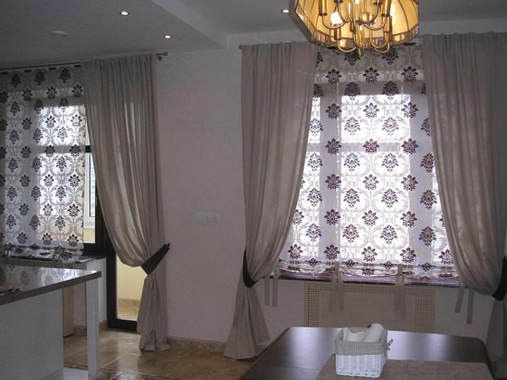 Красивые шторы на кухню