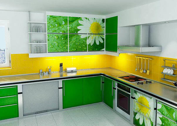 В качестве зеленого может выступать не только монотонный цвет, но и рисунок