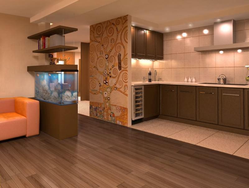 Кухня-гостиная – одно из самых распространенных решений для небольших квартир или студий