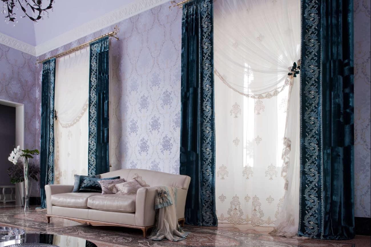 Итальянские шторы могут занять достойное место в интерьере самых разных комнат: гостиной, кабинета, спальни