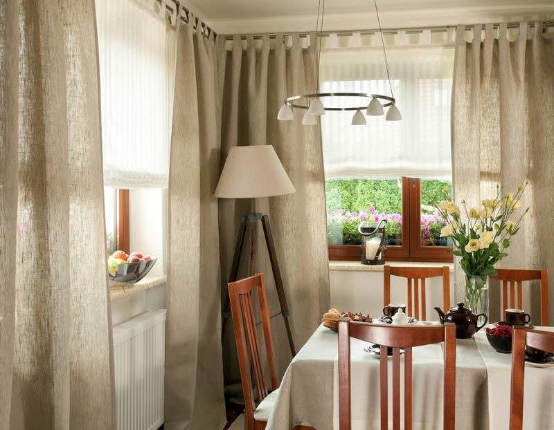 Этно стиль, как правило, включает в себя простейшие модификации выкроек для штор