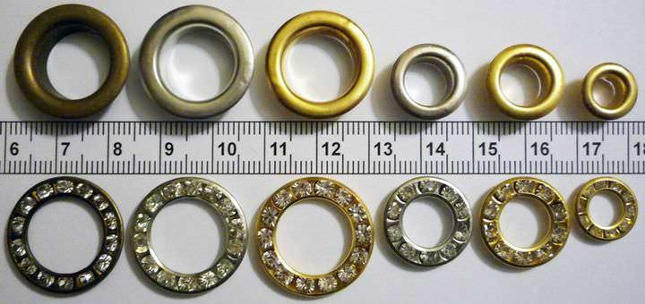 Перед тем как производить нужные расчеты, важно определиться с размером люверсов и диаметром карниза